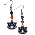 Auburn Tigers Fan Bead Dangle Earrings